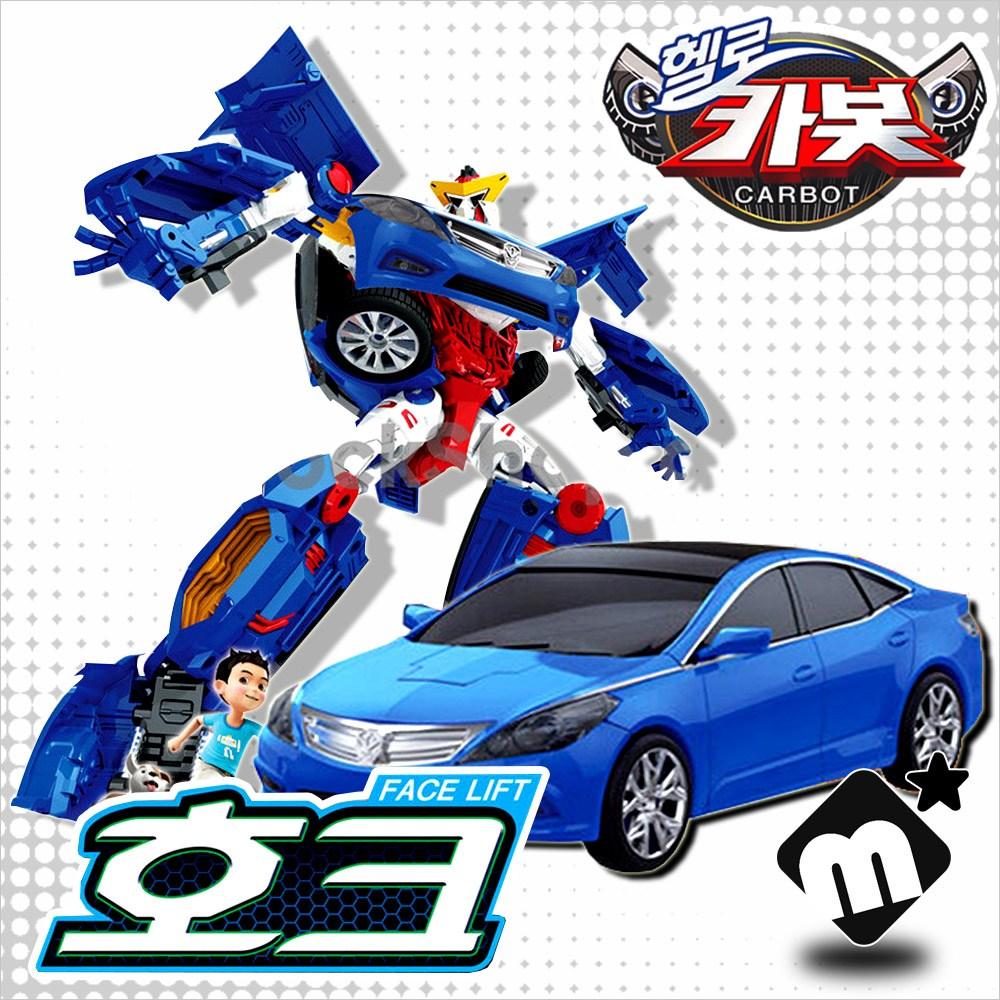 헬로카봇 무기장착 리얼변신 3D 변신로봇 그랜저 호크 로봇 자동차 미니카 장난감, 단품