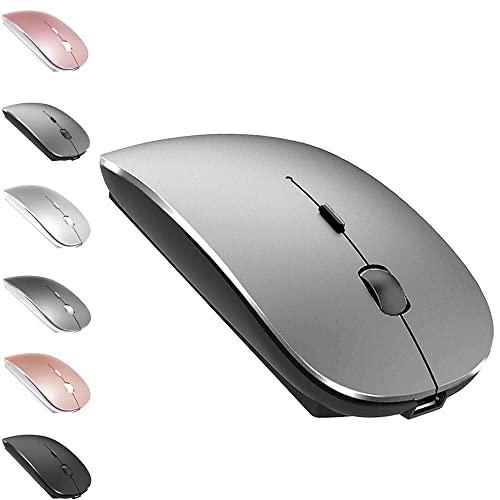 MacBook Pro 용 충전식 블루투스 마우스 Pro MacBook Air Imac iPad Windows 노트북 MacBook Ai (Bluetooth Mouse Grey), Bluetooth Mouse Grey