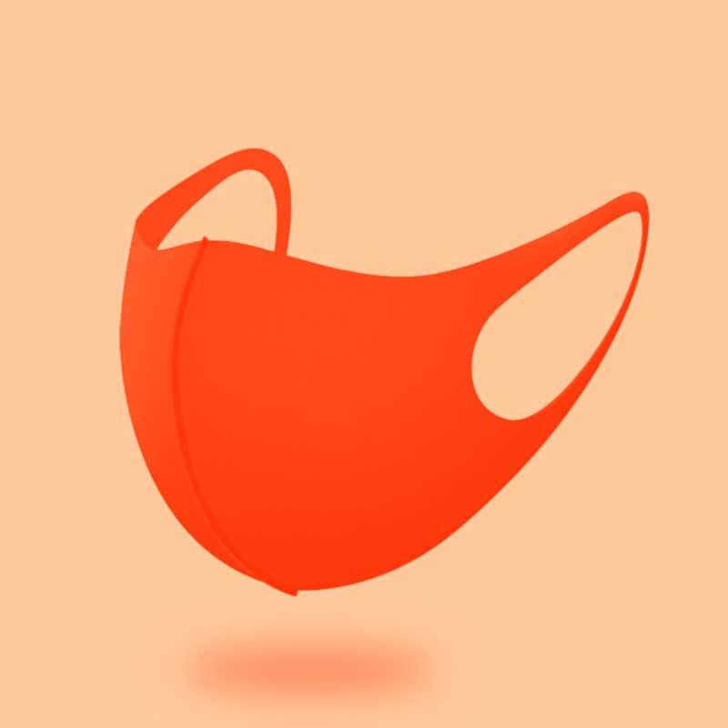 세종케어 국내생산 효성정품 연예인마스크 2+1 귀안아픈 UV항균 3D입체 마스크 패션마스크 숨쉬기편한마스크 운동마스크, 형광오렌지 3장 1세트