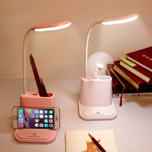 헤호 멀티 LED 스탠드 조명 독서등 공부등 책상조명 단스탠드 테이블램프, 핑크