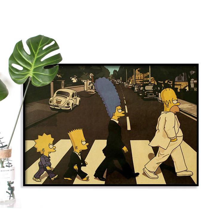 어가네 영화 포스터 시즌2, Z103-비틀즈 심슨