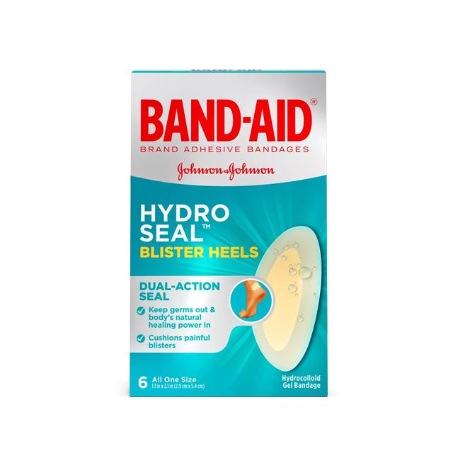 밴드에이드 하이드로씰 뒤꿈치용 방수 물집 습윤밴드 6매입, 1개 (POP 4851269394)
