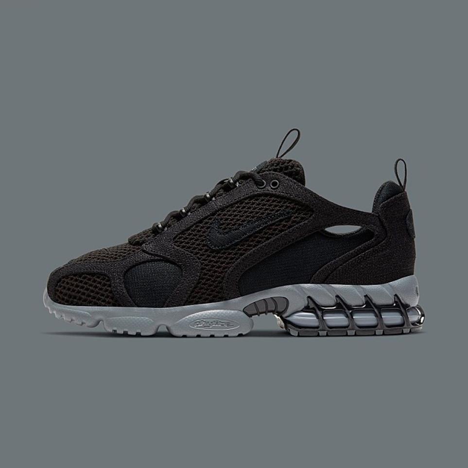 나이키 [공식판매처] 에어 줌 스피리돈 케이지2 트리플 블랙 Stussy X Nike Air Zoom Spiridon Cage2 Triple Black CQ5486-001 류씨네편집샵