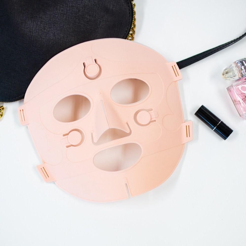 갈바닉 마스크팩 미세전류 홈케어 피부마스크 핑크