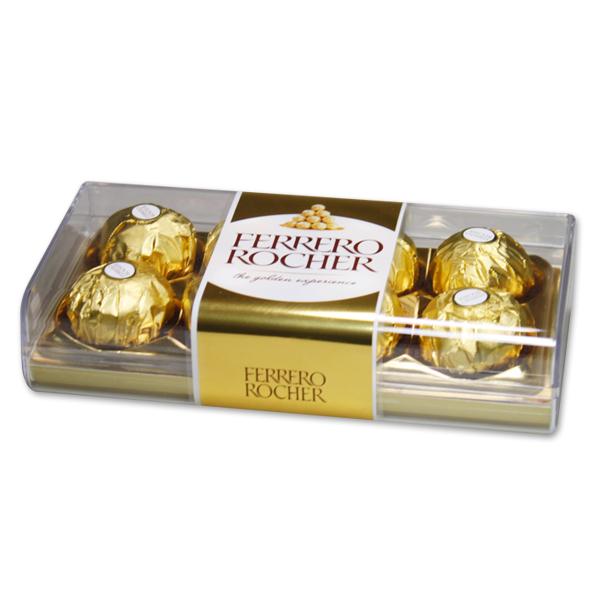 페레로로쉐(사각) T8(100g) 식품 > 스낵/간식 초콜릿/사탕/젤리/껌 초콜릿/캔디 선물 세트, 1, 100g
