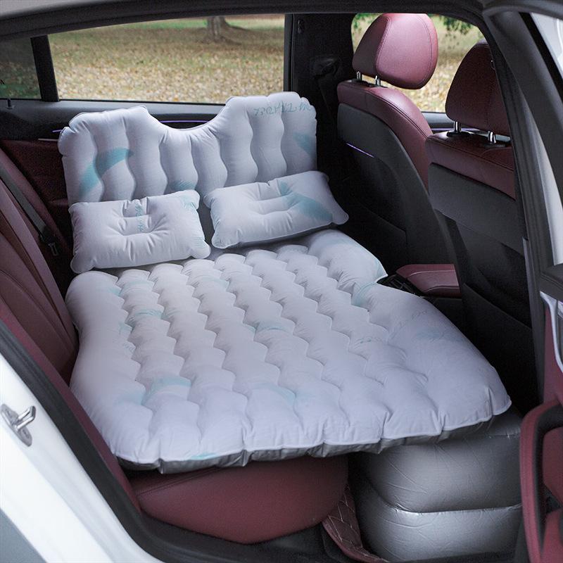 차박매트 차량용 공기충전침대 세단 차량내부 뒷줄 여행침대 잠자는 매직 자동차 통용 뒷자석 에어매트, T05-터프터 프린팅