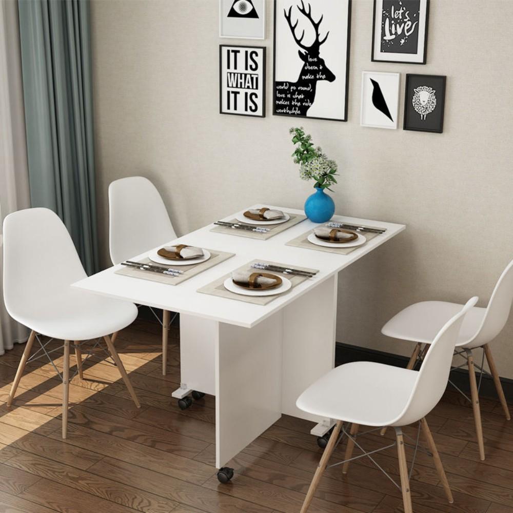 심플한 원룸 이동식 트랜스폼 접이식 식탁 테이블, B