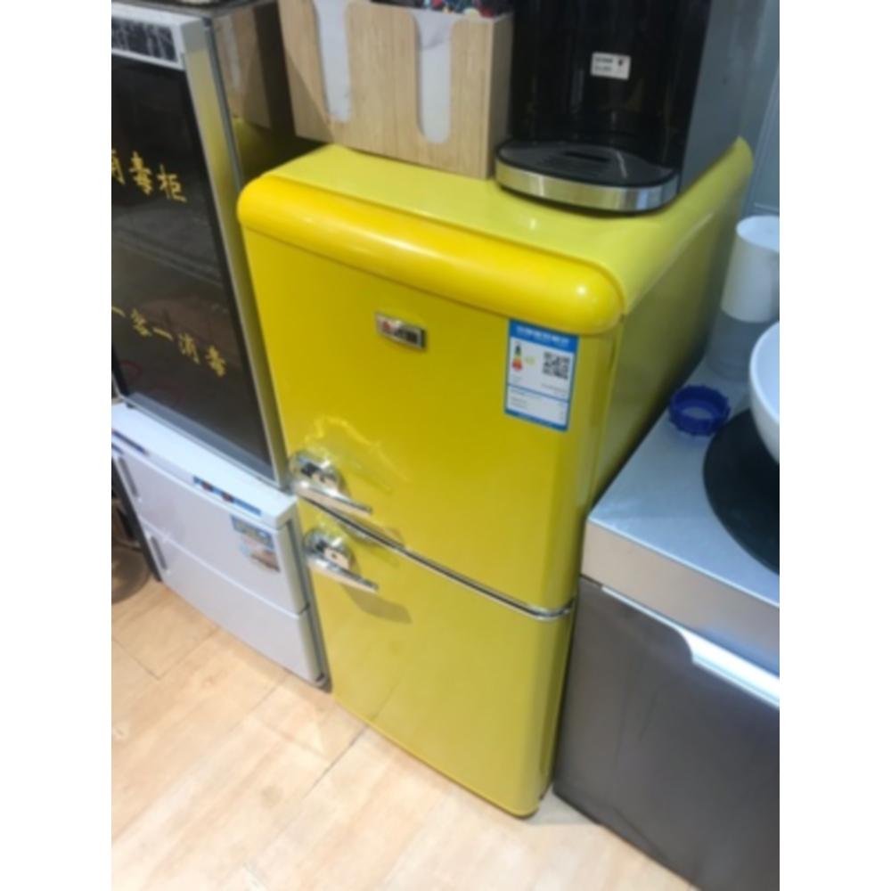가정용 레트로 소형 냉장고 원룸냉장고 미니냉장고 132L, 옐로우