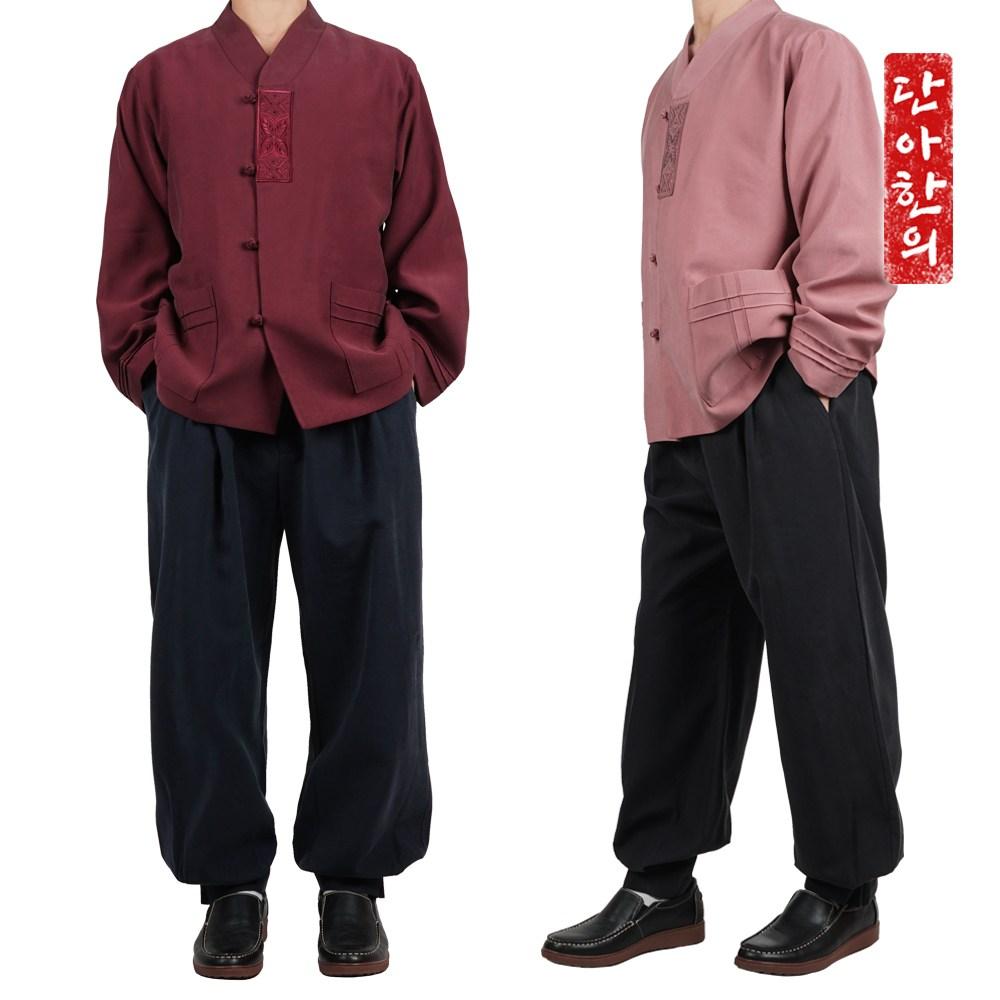 단아한의 남성 가을 개량한복 남자 생활한복 간절기 고급 법복 잔골덴 노마드 세트 생활한복(개량한복)