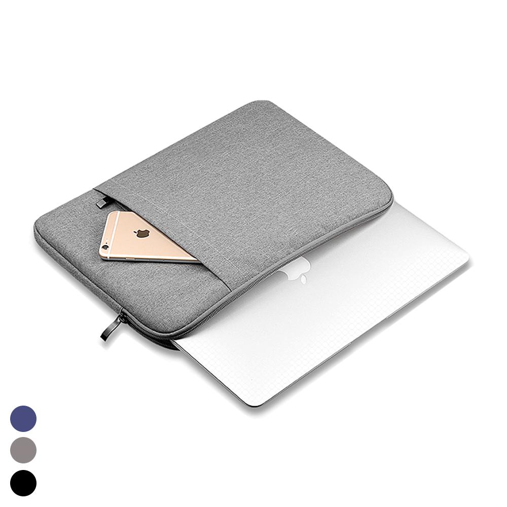 헤이맨 맥북 프로 M1 13인치 2020 A2338 극세사 포켓 노트북 파우치, 그레이