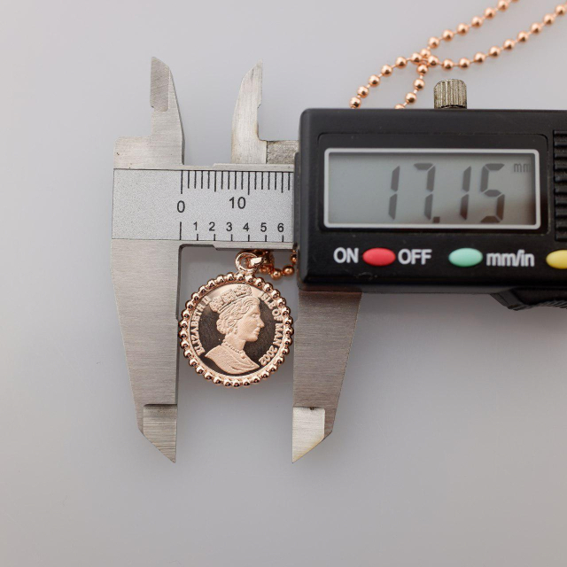 샤밍주얼리 14K 18K 코인 금 펜던트 엘리자베스 2세 골드 양면 14mm 17mm 팬던트