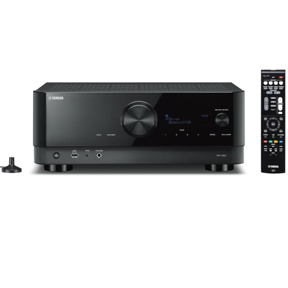 야마하 RX-V6A 8K 7.2채널 네트워크 AV리시버 + 고급 HDMI 2.1 케이블(블루투스/와이파이/포노/USB/앰프/돌비애트모스/홈시어터/DTS:X/ARC), 단품