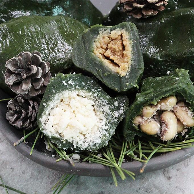 영광 진또배기 모싯잎송편 기피 통동부 참깨 30개, 혼합 30개(기피10+참깨10+통동부5+개떡5)