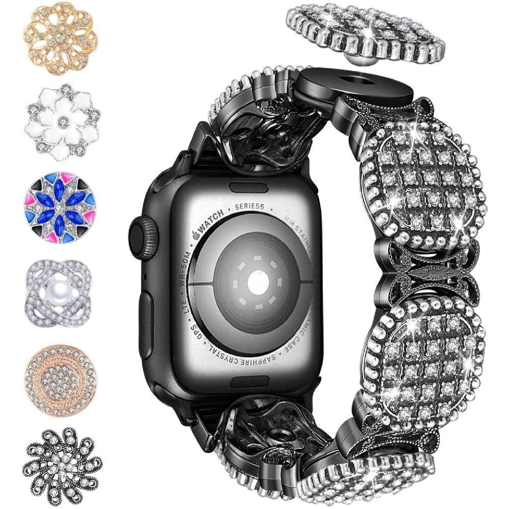 Blinkbrione iwatch 1 개 팔찌 애플 시계 밴드 교체에 DIY 2 세리에 이동식 스냅 모조 다이아