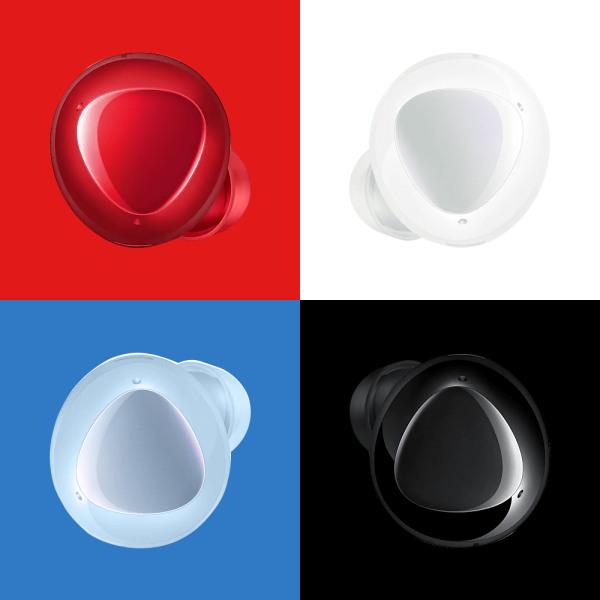 [삼성전자] [삼성정품] 갤럭시버즈플러스 SM-R175 화이트/블랙/블루/레드/핑크색상, 색상:블랙