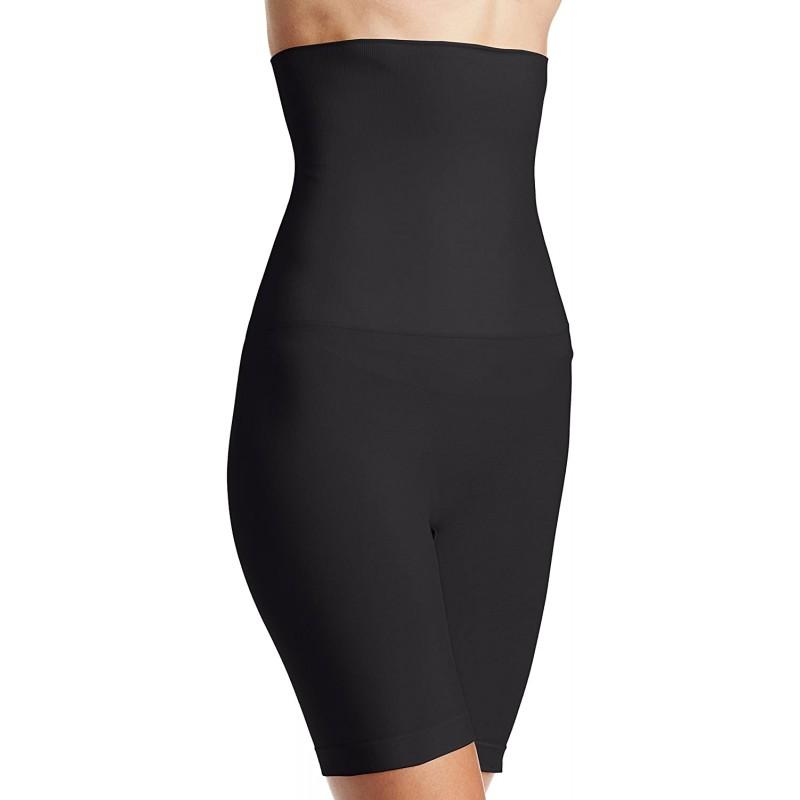 Yummie 여성용 플러스 사이즈 Cleo Seamless High Waist Shaping Short Black Medium / Large