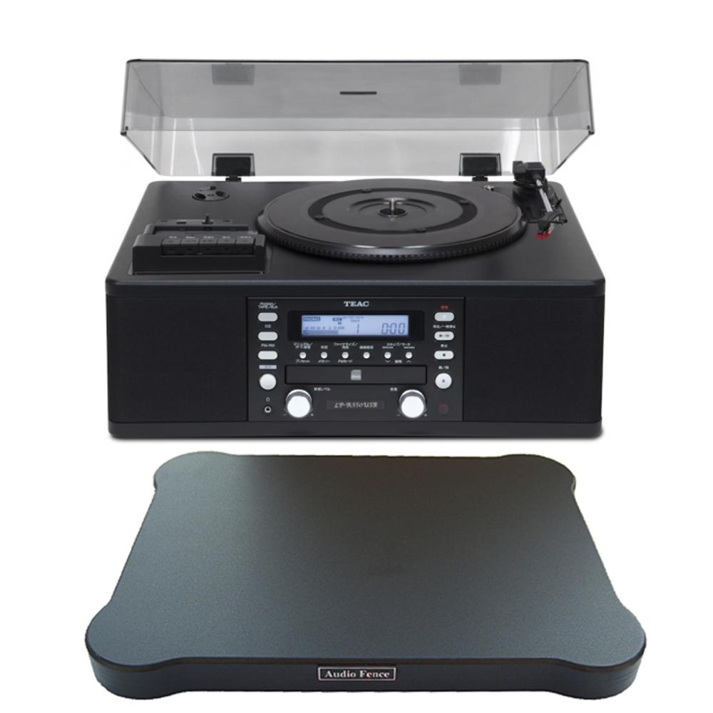 티악 LP-R550 턴테이블 + 오디오펜스 방진매트, 체리