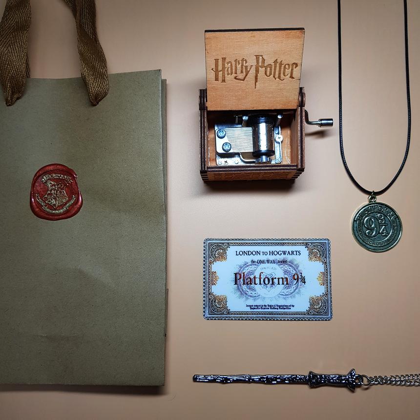 [선물세트] 해리포터 오르골 지팡이 굿즈, 01. 해리포터 오르골 브라운 패키지