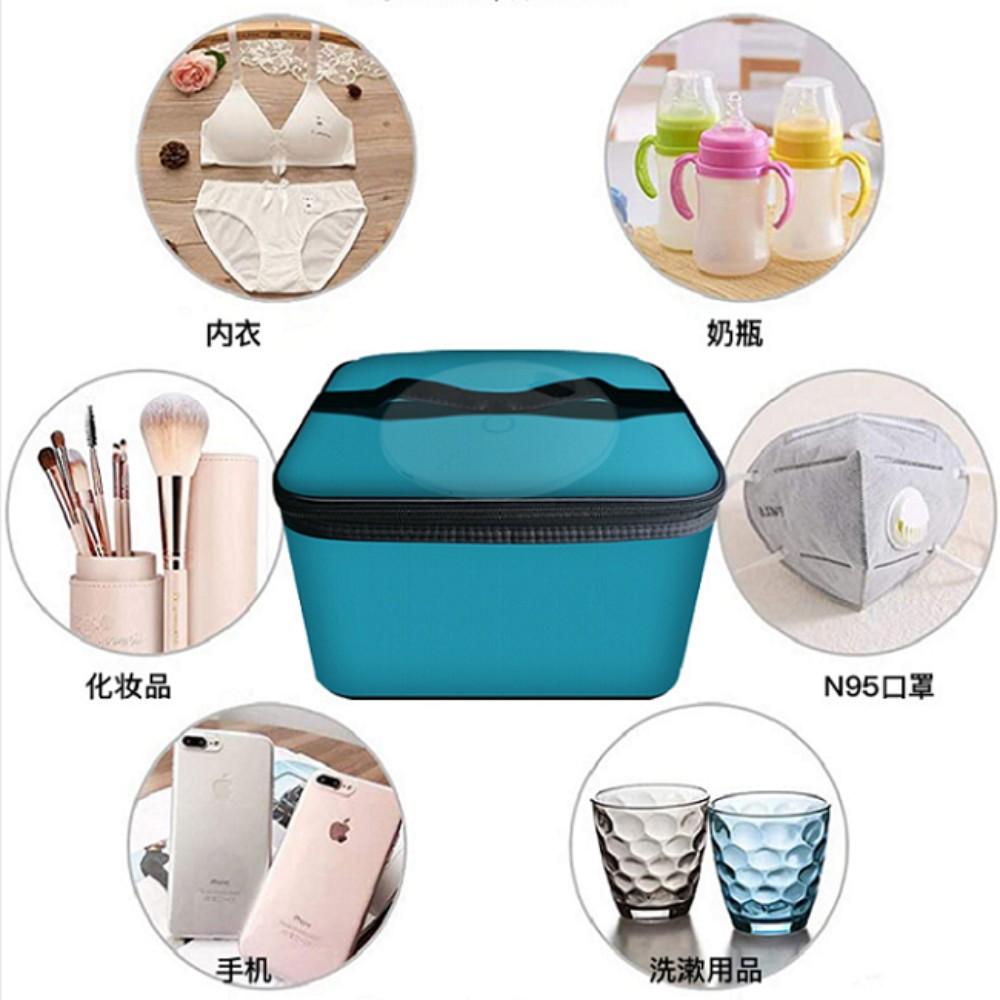 휴대용 자외선 소독기 소형 UV 휴대용 타이머 식기 우유 병 물컵 칫솔 살균 커버, 단일 기계 + 맞춤형 소독 패키지