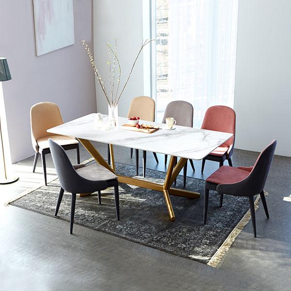 [유씨엠] 루고 세라믹식탁 6인세트 1800 (의자6EA), 자유색상