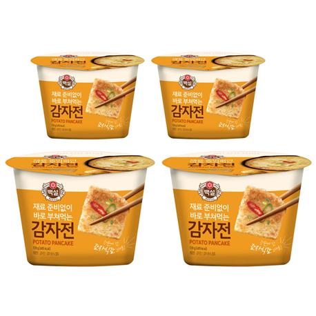 호호몰 CJ백설 감자전(뜯고 섞고 5분만 부치면 완성~~), 4개