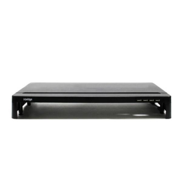베리몰 [(주)위드씨엔에스] 모니터받침대 i-bridge MC-300 HUB [블랙] /디자인 예쁜/튼튼한/다기능/349377, 블랙