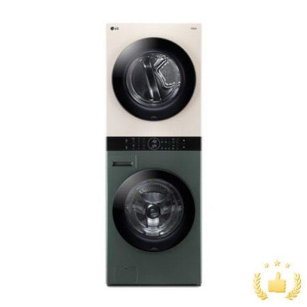 [LG전자] 워시타워 오브제 컬렉션 W16GE [세탁기24KG+건조기16KG/드럼-그린 건, 상세 설명 참조