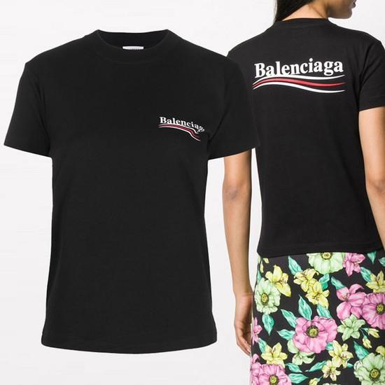 발렌시아가 20FW 익스플로러 백로고 티셔츠 612964 TIV52 1070-25-2076765263