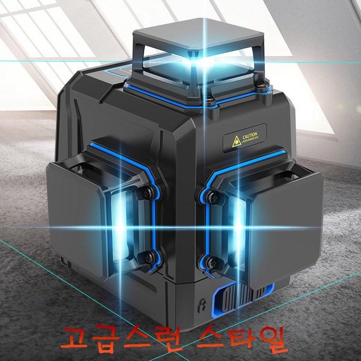 . (바닥) 레이저 레벨기 YA 그린 블루 8 12라인 레이져 수평기 오토 자동 레벨, 1번