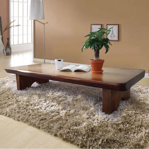 [이베스타]해송소나무 통원목좌탁테이블 1200/1500/1800 사이즈, 1000사이즈