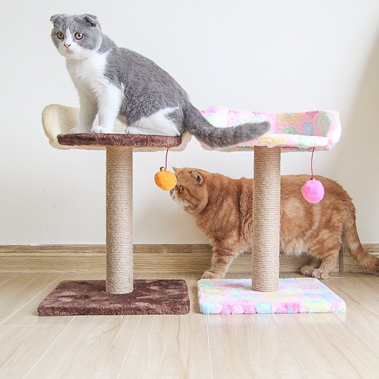 미래물 겜블링 캣타워 캣츠 점프대 고양이 기둥 잡기 나무 발톱 용품zzw, 1개, M2핑크