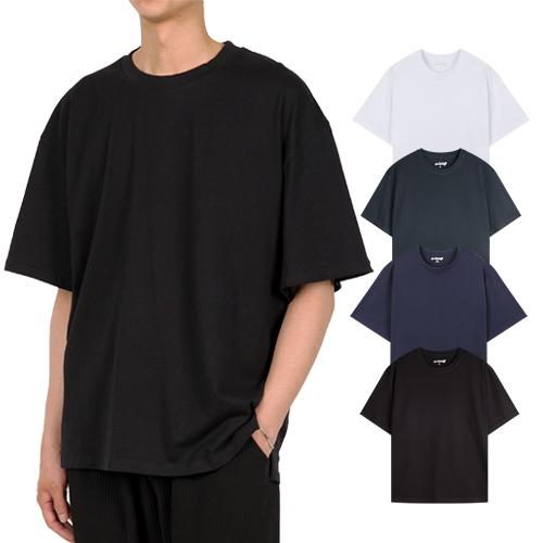 지스캇 남녀공용 리얼 오버핏 반팔 티셔츠
