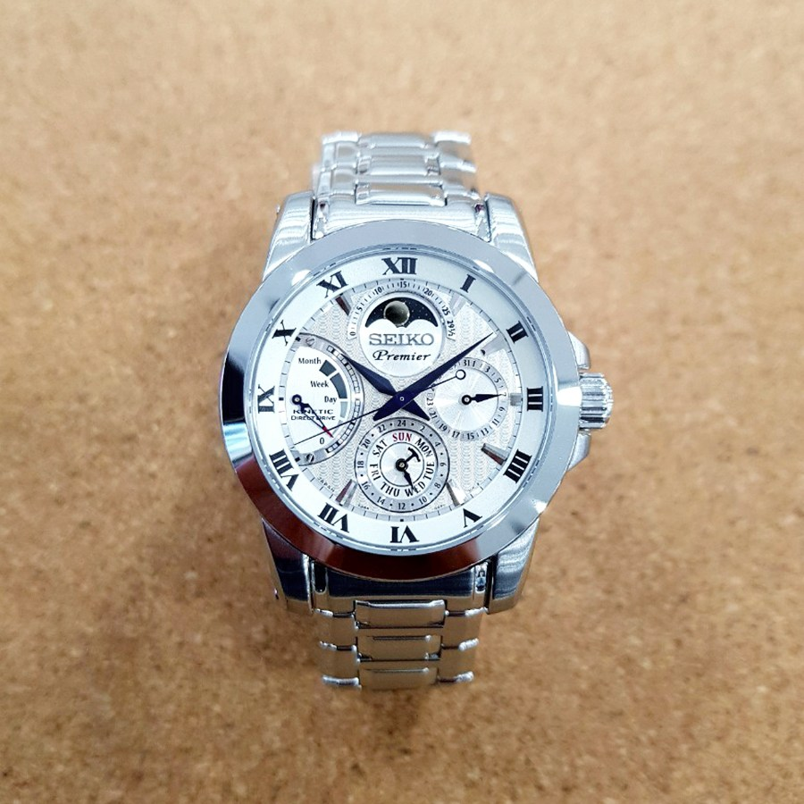 세이코 프리미어 키네틱 문페이즈 남성 남자 시계 SRX011J1