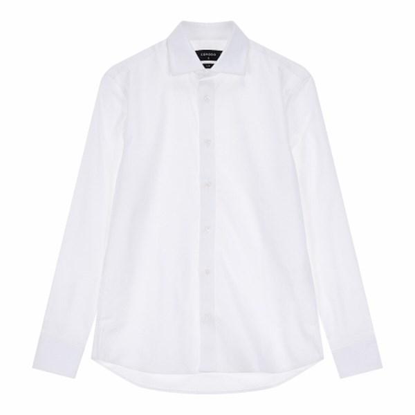 COMODO 스판 와이드 화이트 셔츠 1904179809101
