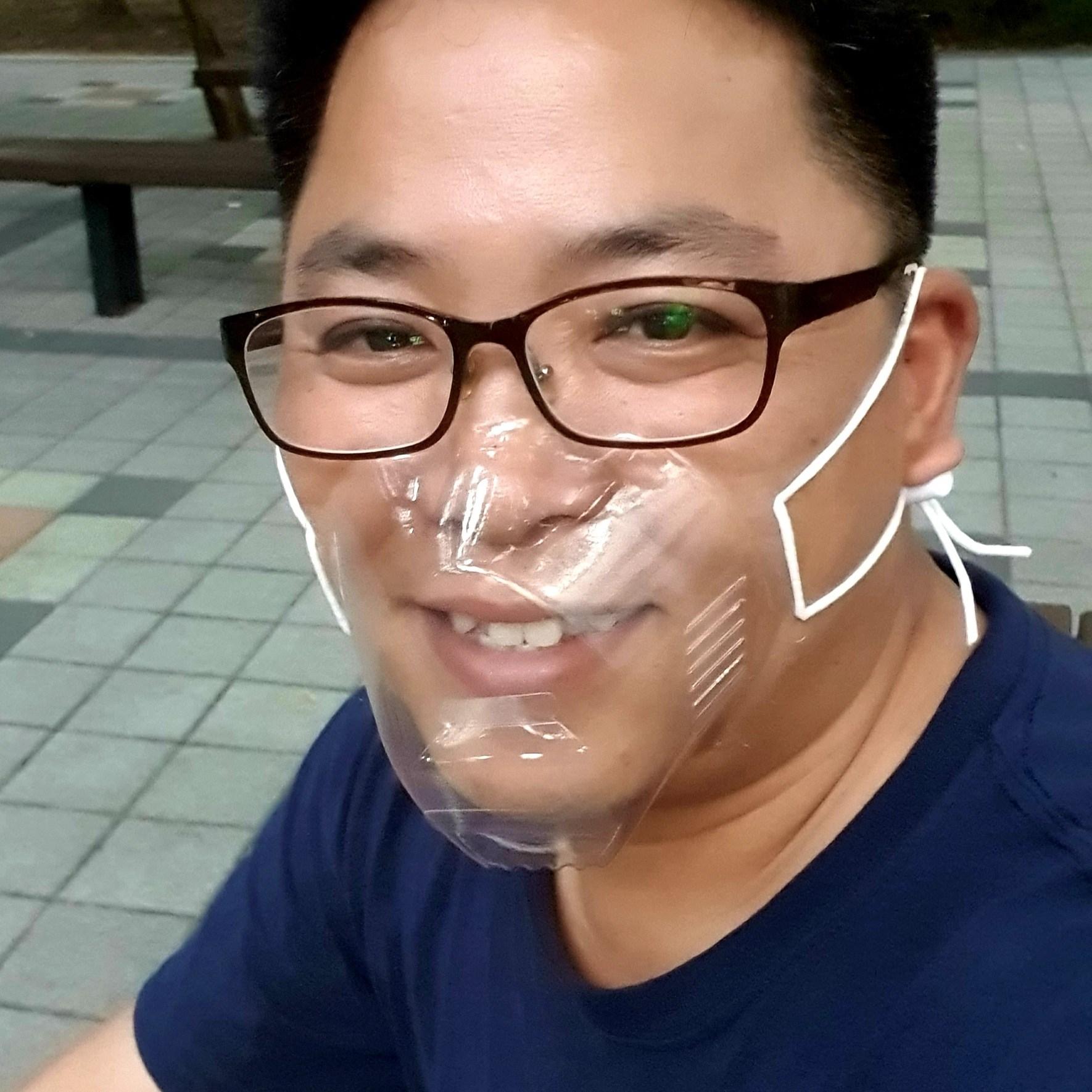 립뷰 무독성 청각 장애인 안면 투명 위생 고객 김서림방지 누구나 마스크 (NM-002), 성인용 (단일사이즈)