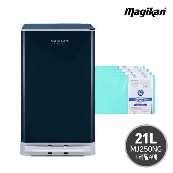 매직캔 스텔라 21리터(MJ250NG)+리필4매, 단품