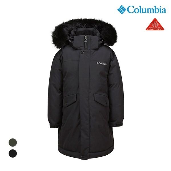 컬럼비아 키즈 사파리 롱 패딩 코트 블랙 C14 YMD909