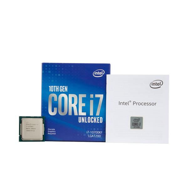 박스 인텔 코어10세대 정품 i7-10700KF CPU (코멧레이크 LGA1200 쿨러미포함), 1개, 선택하세요