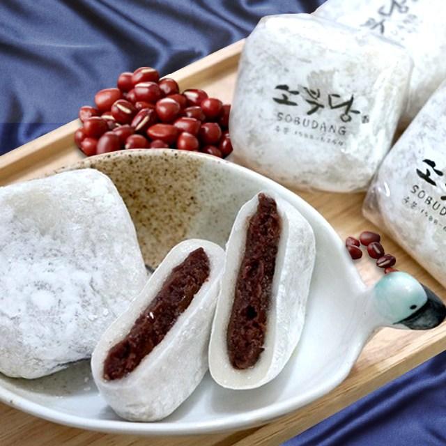 소부당 전주한옥마을 아침식사대용 백미 찹쌀떡 10개입 수능떡 수능찹쌀떡 합격떡, 10개, 85g