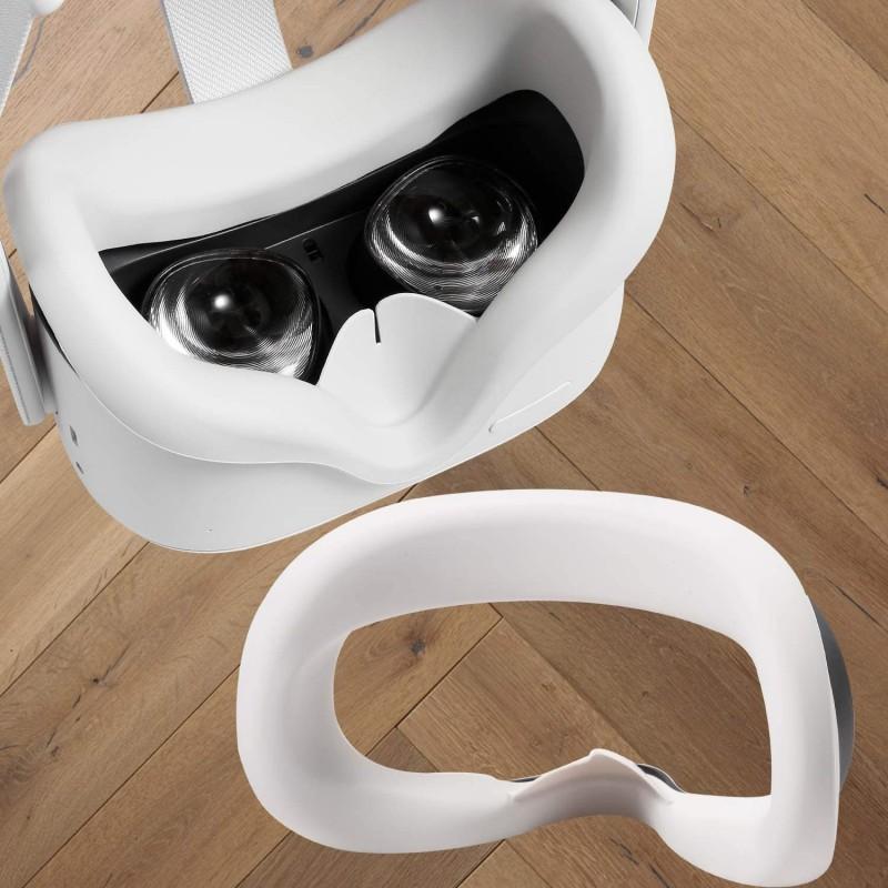오큘러스 퀘스트 2 얼굴 보호 피부 땀 방지 방광 안티 리키지를 위한 Topcovos 최신 VR Silicone Interfa, 1, 단일상품