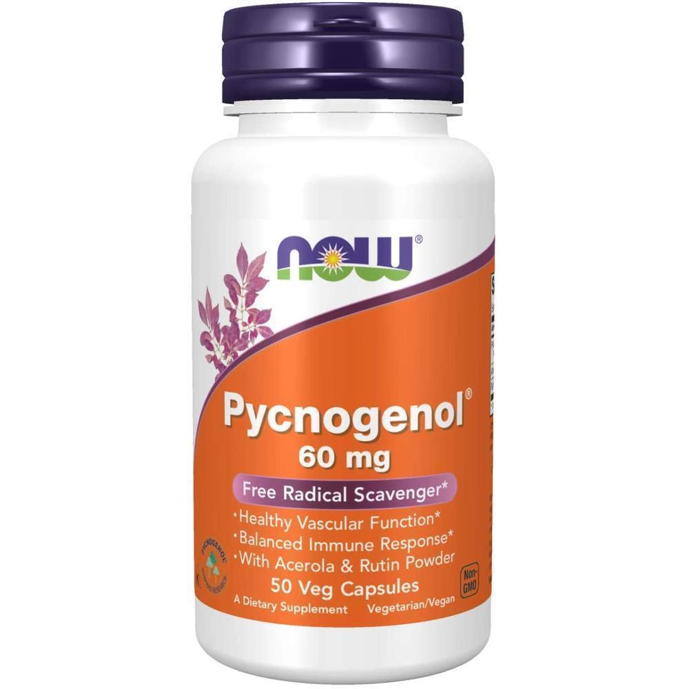 [직구 피크노제놀] NOW Supplements Pycnogenol 60 mg (a Unique Combo of Proanthocyanidins from French Mariti, 1set, 1set