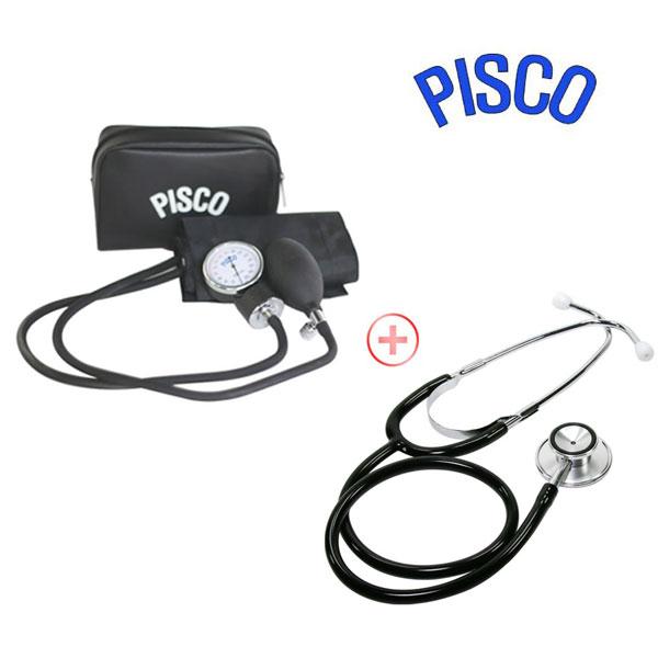 피스코(PISCO) 수동혈압계+양면청진기 아네로이드식 메타혈압계, 1box