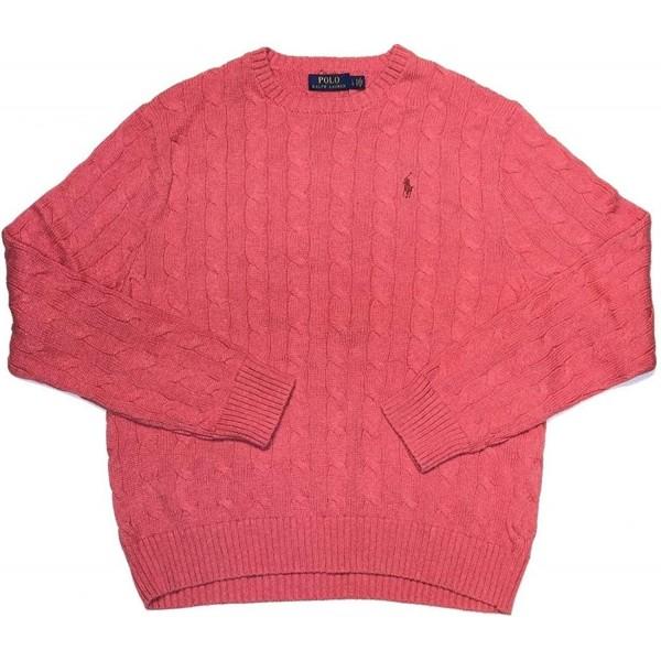 [미국 직구]폴로 랄프 로렌 남성 포니 케이블 니트 크루넥 스웨터 MZ1575473592