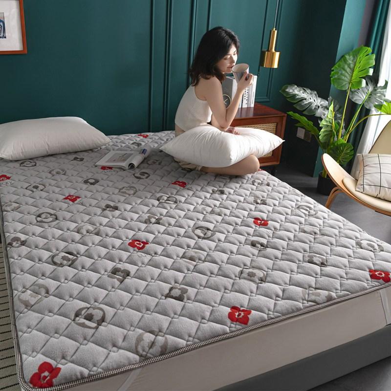 토퍼 템퍼 매트리스 침구 기타 겨울 쿠션 접이식 침대 기모 융털 매트, AD_1.0 x 2.0m