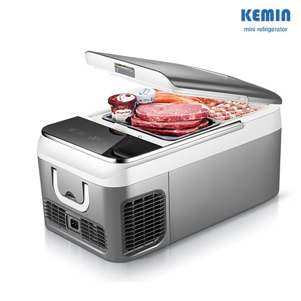 케민 차량용 냉장고 차량가정용 냉동고 KEMIN 18L 26L 12V24V 차량겸용, 차량용 18L 그레이