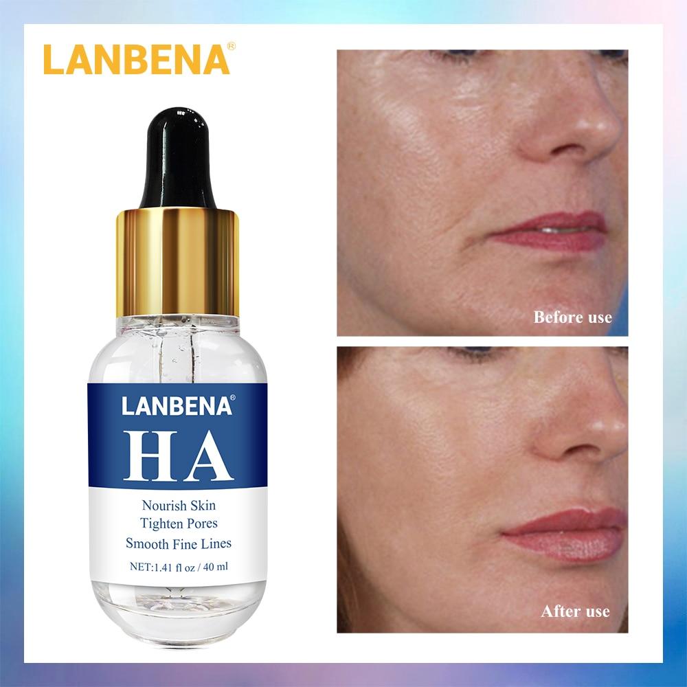Lanbena hyaluronic acid serum 40ml 스무스 파인 라인 모이스춰 라이징 여드름 치료 모공 강화 모공, 단일상품
