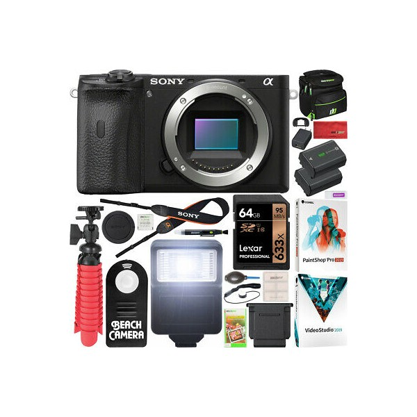 Sony a6600 Mirrorless Camera 4K APS-C Body Only ILCE-6600B 64GB Accessory Bundle, 단일상품