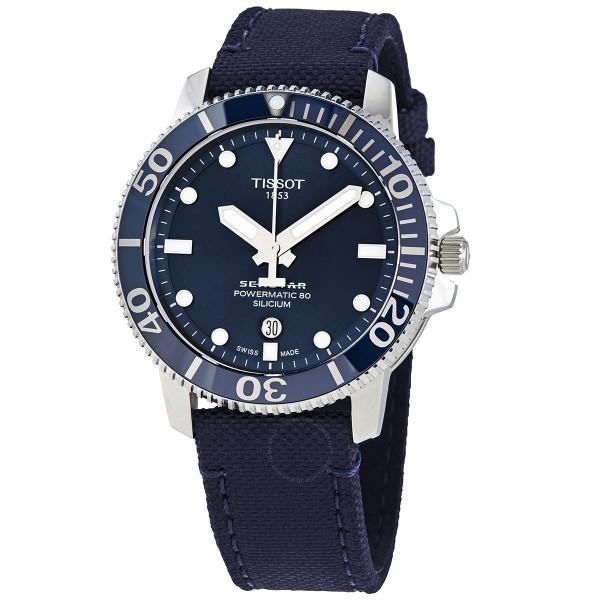 [T120.407.17.041.01] Seastar 1000 Automatic Blue Dial Men's Watch T1204071704101