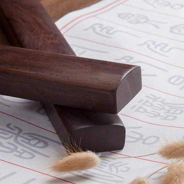 황철나무 원목문진 일자형 문진 소 2P세트