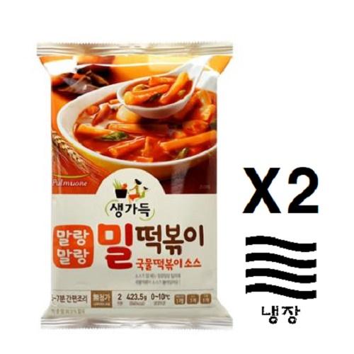 [풀무원] 밀떡 국물떡볶이(2인분)X2, 2개, 423.5g
